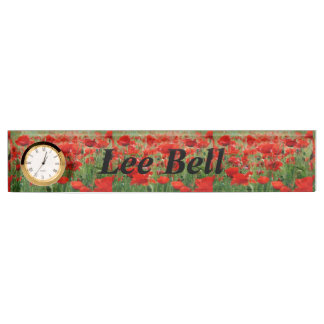 Poppy Field Name Plate