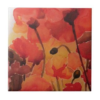 Poppy field tile