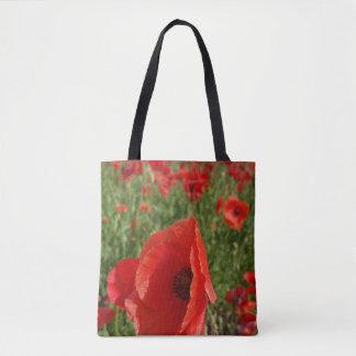 Poppy Field Tote Bag