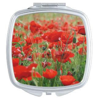 Poppy Field Travel Mirrors