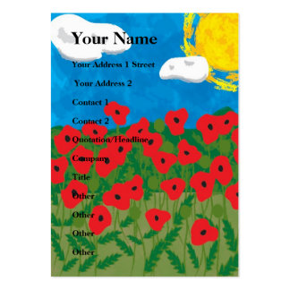Poppy field, Your Name, Your Address 1 Street, ... Business Card Templates