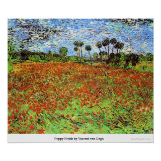 Poppy Fields by Vincent van Gogh Poster