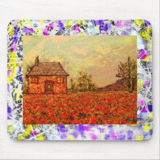 poppy fields drip mouse pad