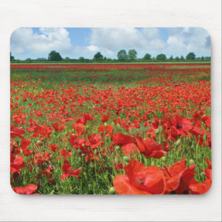 Poppy Fields Mouse Pads