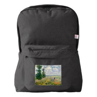 Poppy Fields near Argenteuil by Claude Monet Backpack