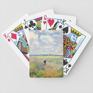 Poppy Fields near Argenteuil by Claude Monet Bicycle Playing Cards