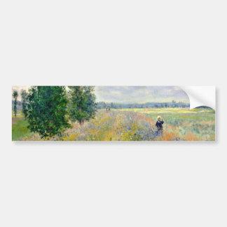 Poppy Fields near Argenteuil by Claude Monet Bumper Sticker