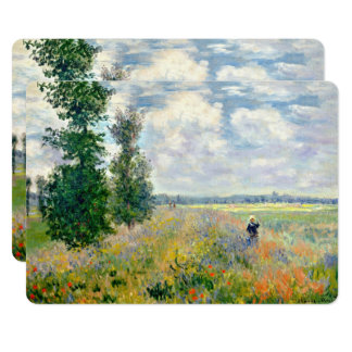 Poppy Fields near Argenteuil by Claude Monet Card