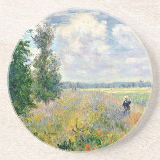 Poppy Fields near Argenteuil by Claude Monet Coaster