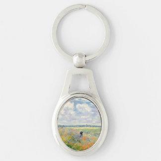 Poppy Fields near Argenteuil by Claude Monet Key Ring