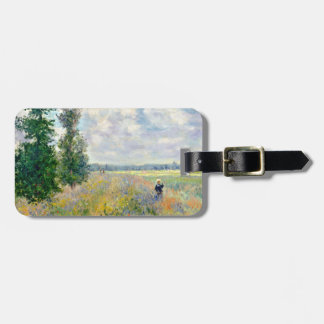 Poppy Fields near Argenteuil by Claude Monet Luggage Tag