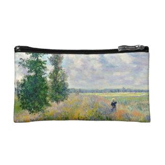 Poppy Fields near Argenteuil by Claude Monet Makeup Bag
