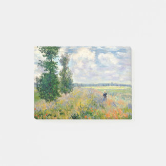 Poppy Fields near Argenteuil by Claude Monet Post-it Notes