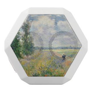 Poppy Fields near Argenteuil by Claude Monet White Bluetooth Speaker