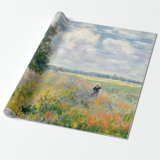 Poppy Fields near Argenteuil by Claude Monet Wrapping Paper