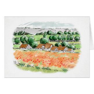 Poppy Fields Note Card