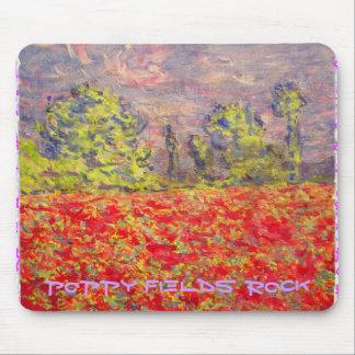 poppy fields rock art mouse pad