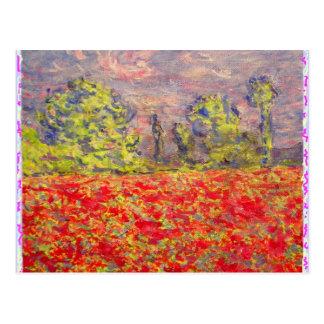 poppy fields rock postcard