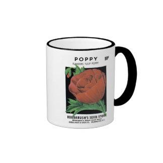 Poppy, Flanders Tulip, Roudabush's Seed Store Coffee Mug