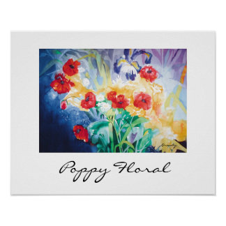 Poppy Floral-poster