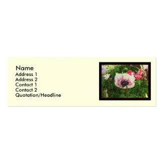 Poppy Flower Pack Of Skinny Business Cards
