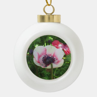 Poppy Flower Ceramic Ball Decoration
