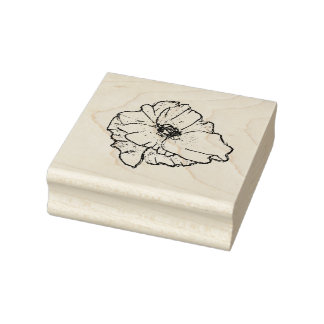 Poppy Flower For All Your Spring Stamping Projects Rubber Stamp