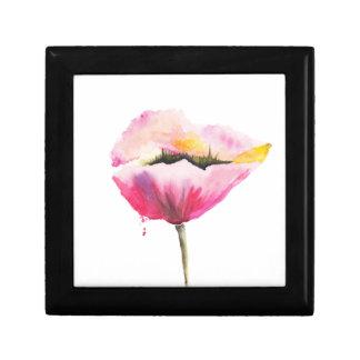 Poppy flower gift box