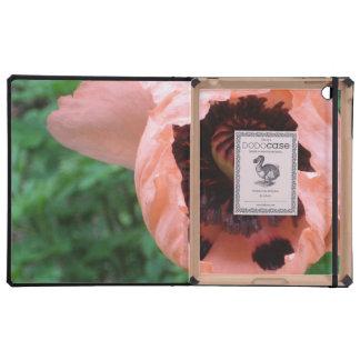 poppy flower iPad folio cover