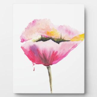 Poppy flower plaque