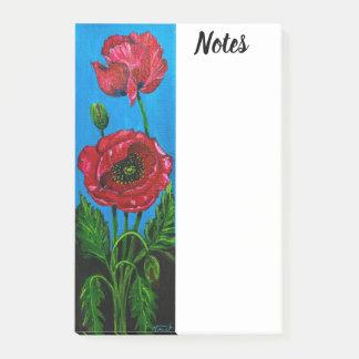 Poppy Flower Post-it Post-it Notes