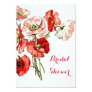 Poppy flower wild country card