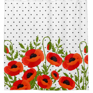 Poppy Flowers Shower Curtain