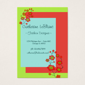 Poppy Fun Trendy Business Card
