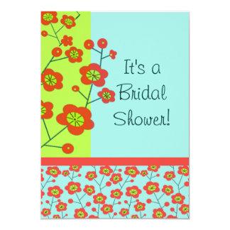 Poppy Fun Trendy Mod Floral 13 Cm X 18 Cm Invitation Card