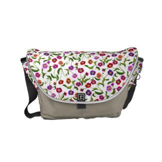 Poppy Garden Floral Messenger Bag