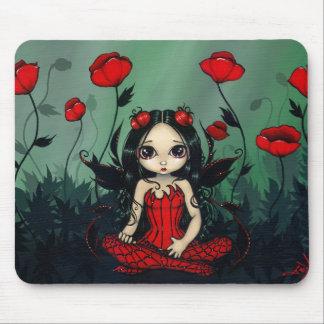 Poppy Garden gothic poppies fairy Mousepad