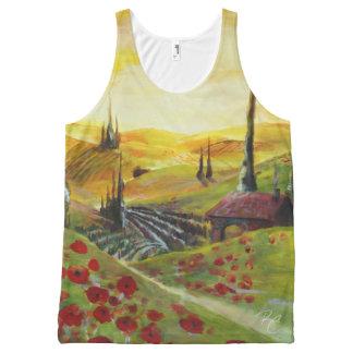 Poppy Hills All-Over Print Singlet