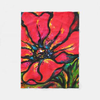 Poppy I Fleece Blanket
