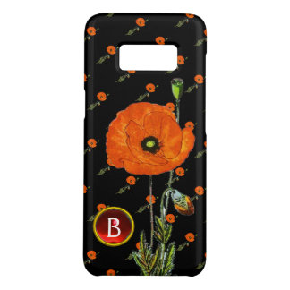 POPPY IN BLACK RED RUBY GEMSTONE  MONOGRAM Case-Mate SAMSUNG GALAXY S8 CASE