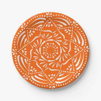 Poppy Mandala Paper Plate