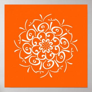 Poppy Mandala Poster