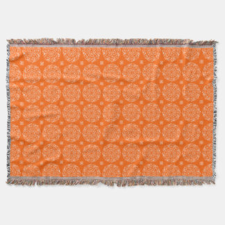 Poppy Mandala Throw Blanket