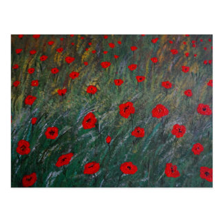 poppy meadow postcard