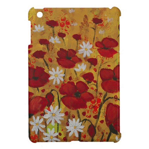 Poppy Meadow, Red Flowers iPad Mini Cover