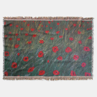 Poppy meadow throw blanket