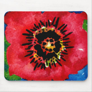 Poppy mousepad