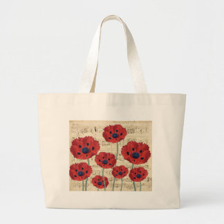 Poppy Music Dream Large Tote Bag