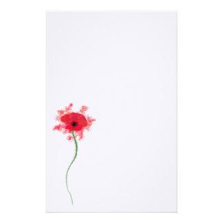 Poppy notepaper stationery design