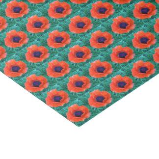 POPPY Oriental Red Orange --- Tissue Paper